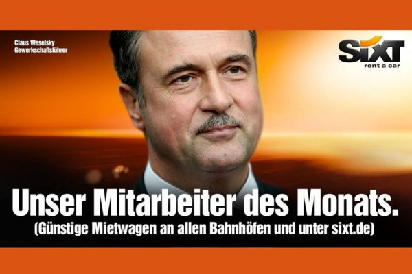 Politici v reklamě (ve světle německé judikatury k reklamám Sixt)